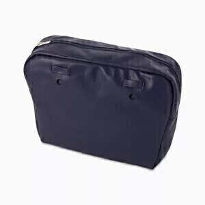 O bag classic innerbag zip-up with loops nappa faux leather navy blue