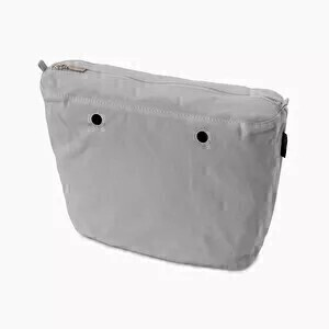 O bag classic innerbag zip-up canvas grey