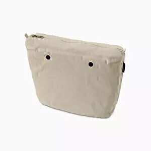 O bag mini innerbag zip-up canvas natural