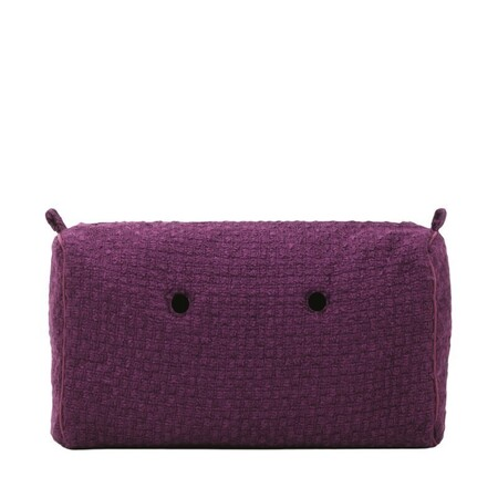 O bag city innerbag zip-up bouclé aubergine