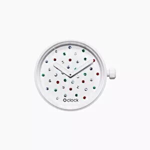 O clock dial crystal white mix