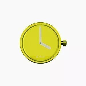 O clock dial mirror lime