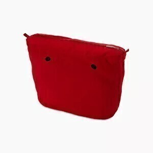 O bag mini innerbag zip-up canvas red