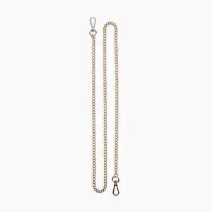 O bag pocket long chain shoulder strap gold