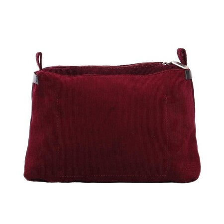 O bag glam innerbag zip-up corduroy cotton bordeaux