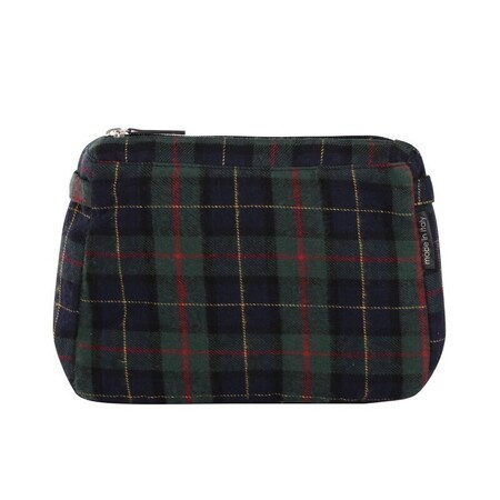 O bag glam innerbag zip-up tartan allison navy blue/green forest