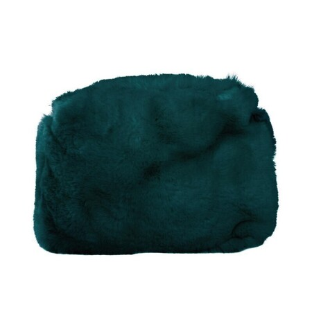 O bag glam innerbag zip-up faux lapin rex fur green forest