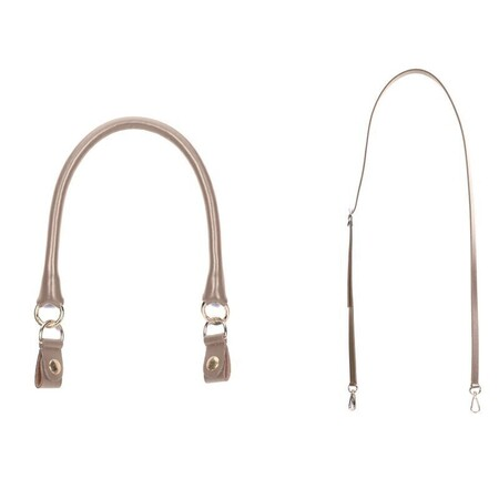 O bag set: short tubular handle with clips + shoulderstrap 110 sand/gold