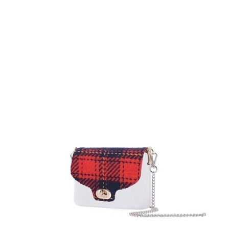 O bag pocket micro flap tartan wallace red/navy blue/curry