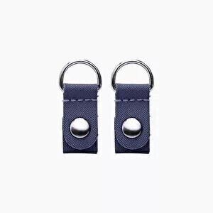 O bag clips navy blue with silver ring