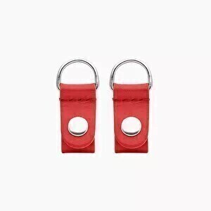 O bag clips (silver) red