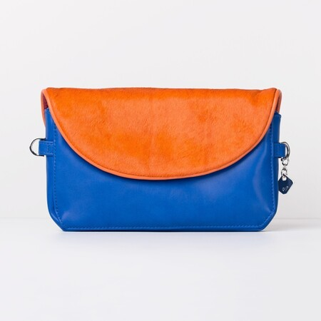 J-Posh canvas met flap pony orange