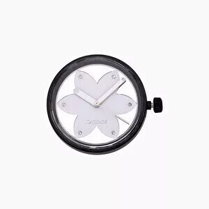 O clock dial metal flower silver
