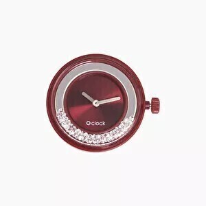 O clock dial shiney crystals red