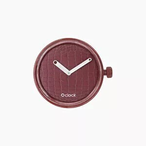 O clock dial laser croco bordeaux