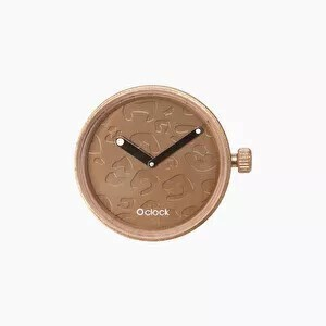 O clock dial laser spotted copper