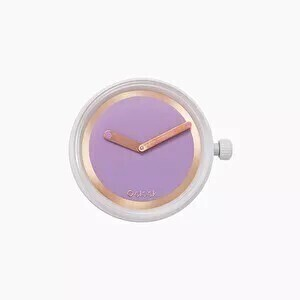 O clock dial metal ring orchid