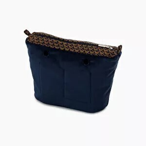 O bag mini innerbag zip-up jaquard fantasy navy blue