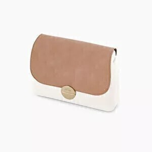 O bag glam flap suede with studs blush pink