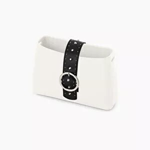 O bag glam band closure with studs black