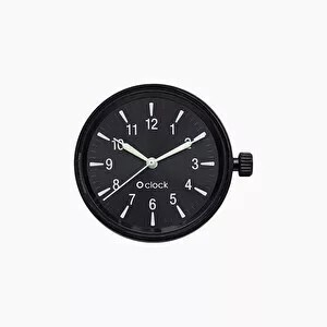 O clock dial glow numbers black