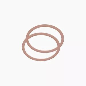 O bag sharm/moon ring handle blush pink
