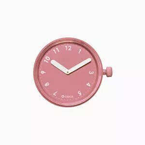 O clock dial numbers powder pink