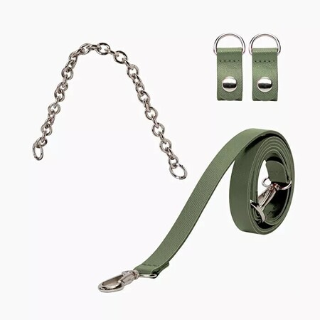 O bag set: short chain handle with clips + shoulderstrap 110 military